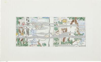 Roy Lichtenstein, 'Water Lilies Tapestry (Study)', 1995
