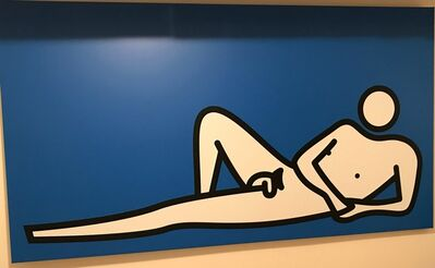 Julian Opie, 'Male Nude Lying Knee Up On Elbow', 2000