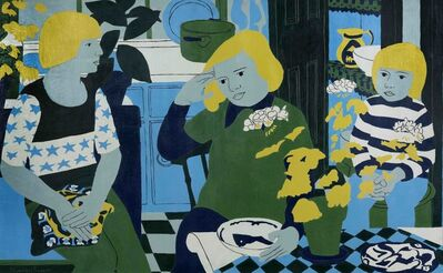 Norman Gilbert, 'People in a Kitchen with Plants', 1974