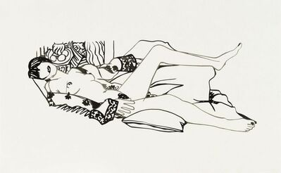 Tom Wesselmann, 'MONICA NUDE WITH PURPLE ROBE', 1990