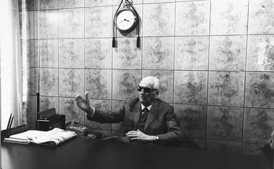 Benno Graziani, 'Enzo Ferrari in his office in Modena. 1985', 1985