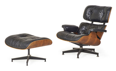 Charles Eames, 'Lounge chair and ottoman (no. 670 and 671)', 1970s