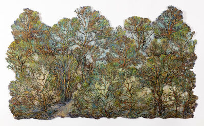 Lesley Richmond, 'Green Gold Forest', 2019