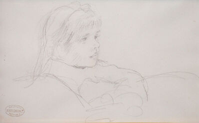 Mary Cassatt, 'Tete de Fillette (Head of a Girl)', ca. late 1800s
