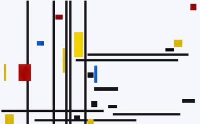José Manuel Ballester, 'Variaciones a partir de Mondrian 5', 2013