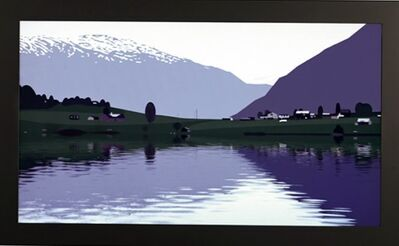 Julian Opie, 'I HAD MADE A COUPLE OF ANIMATED FILMS OF RIPPLING WATER…..', 2005