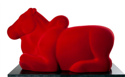 Arunkumar H. G., 'Nandi in red', 2008