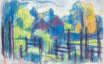Oscar Bluemner, 'Hill at Oaks Pond', 1918