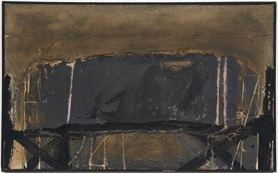 Antoni Tàpies, 'Gray with three pink lines', 1964