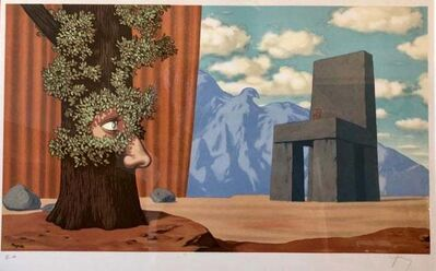 René Magritte, 'Letting The Light Through', 1968