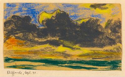 Emil Nolde, 'Kliffende, Sylt ', 1930