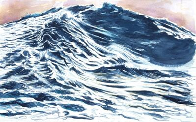 Ken Craft, 'Wave, study for canvas, Critical Response', 2017