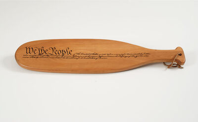 Mike Kelley, 'Paddle for Artist's Space', 1992