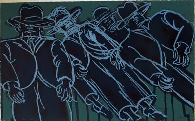 Lester Johnson, 'Dark Crowd', 1970