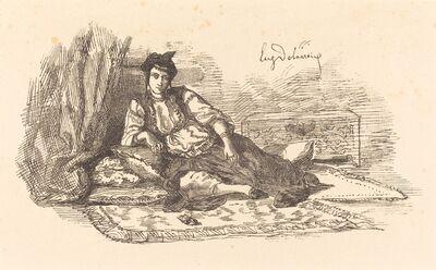 Eugène Delacroix, 'Jewish Woman of Algiers  (Juive d'Alger et une rue à Alger)', 1838