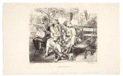 John Sloan, 'SHINE, WASHINGTON SQUARE (M. 210)', 1923