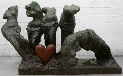 Jim Dine, 'Five Colorful Dancers, One Bronze Heart', 2009