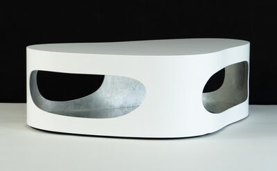 """Jacques Jarrige, 'Coffee table """"Cloud Corsica"""" in lacquer and silver leaf', 2018"""
