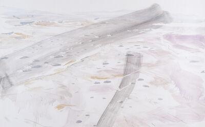 Eric LoPresti, 'Nevada Test Site with black brushstrokes', 2015