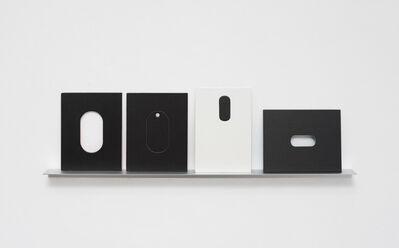 Odires Mlászho, 'Arquibabas (preta e branca, oval)', 2015