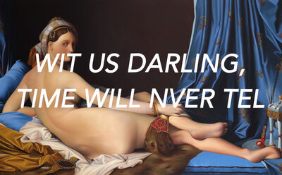 Shawn Huckins, 'La Grande Odalisque: With Us Darling, Time Will Never Tell', 2020