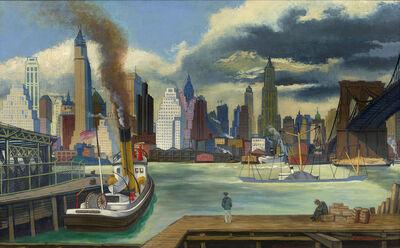 Ernest Fiene, 'Waterfront, Lower Manhattan', 1931