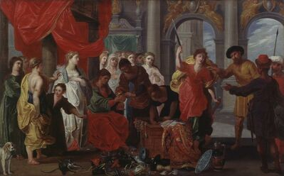 Frans Francken III, 'Achilles at the Court of Lycomedes', 1607-1655