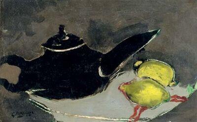 Georges Braque, 'Théière noir et deux citrons', 1948