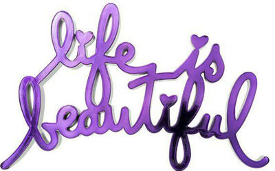 Mr. Brainwash, 'Life Is Beautiful-Hard Candy Purple', 2020