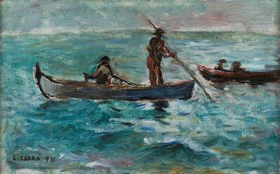 Carlo Carrà, 'Bozzetto di barche', 1931