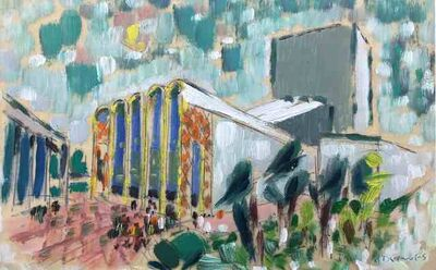 Werner Drewes, 'Untitled (Lincoln Center, New York City)', ca. 1950
