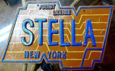 Greg Constantine, 'Frank Stella Artist license Plate Pop Art', 1980-1989