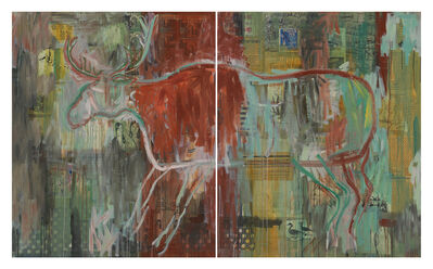 Jaune Quick-to-See Smith, 'I See Red: 10,000 Years', 1992