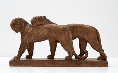 André Vincent Becquerel, 'Lionesses Sculpture', ca. 1930