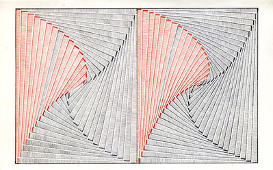 Jessica Deane Rosner, 'Ruled Unruled with Red Pencil (Pinwheel)', 2017
