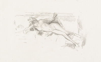 James Abbott McNeill Whistler, 'Nude Model, Reclining', 1893