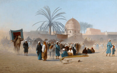 Charles Théodore Frère, 'Marché au Caire', ca. 1860