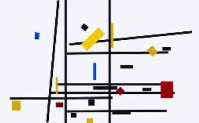 José Manuel Ballester, 'Variaciones a partir de Mondrian 10', 2013