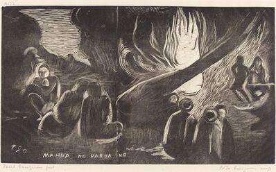 Paul Gauguin, 'Mahna no Varua Ino (The Devil Speaks)', 1894/1895