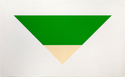 Ellsworth Kelly, 'Green/White', 1970-1972