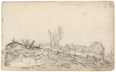 Jan van Goyen, 'A village beyond a hill', ca. 1651
