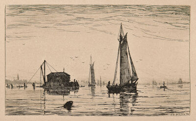 Frank Weston Benson, 'Salem Harbor', 1882