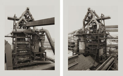 Bernd and Hilla Becher, 'Hochofen; and Ilsede/Hannover (Blast-furnace; and Ilsede/Hannover), from Sequence portfolio', 1998