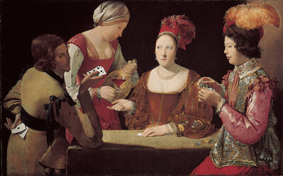 Georges de La Tour, 'The Cheat with the Ace of Clubs', 1630-1634