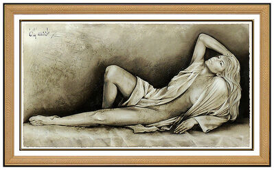 Bill Mack, 'Bill Mack Embossed Large Mixed Media Radiance Signed Nude Female Sculpture Art', 20th Century