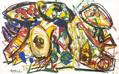 Karel Appel, 'People in the fallen City ', 1989