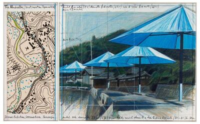 Christo, 'The Umbrellas (Joint Project for Japan and USA)', 1989