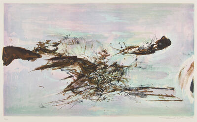 Zao Wou-Ki 趙無極, 'À la gloire de l'image et Art poétique (In honour of the picture and of poetry): plate 7', 1976