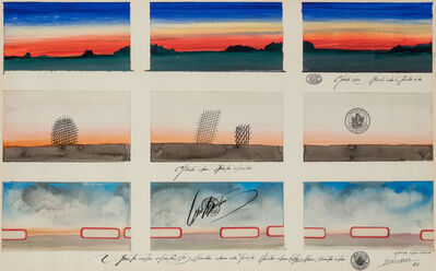 Saul Steinberg, 'Nine Wyoming Post Cards', 1968