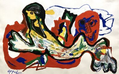 Karel Appel, 'Lying Figure', 1989